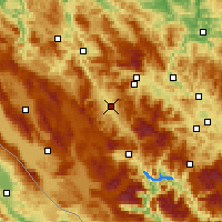 Nearby Forecast Locations - Bugojno - Map