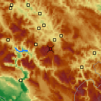 Nearby Forecast Locations - Bjelašnica - Map