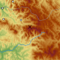 Nearby Forecast Locations - Ineu Mountain - Map