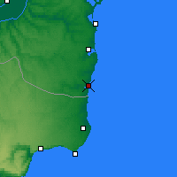 Nearby Forecast Locations - Mangalia - Map