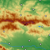 Nearby Forecast Locations - Botev Peak - Map
