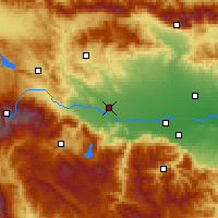 Nearby Forecast Locations - Pazardzhik - Map