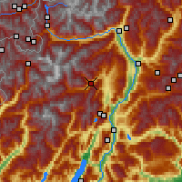 Nearby Forecast Locations - Val di Sole - Map