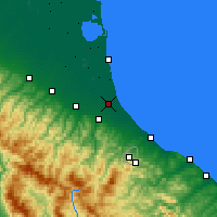 Nearby Forecast Locations - Cervia - Map
