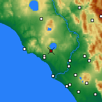 Nearby Forecast Locations - Vigna Di Valle - Map