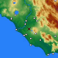 Nearby Forecast Locations - Ciampino - Map
