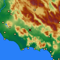 Nearby Forecast Locations - Frosinone - Map