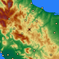 Nearby Forecast Locations - Campobasso - Map