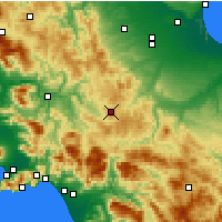 Nearby Forecast Locations - Trevico - Map