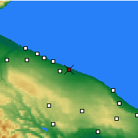 Nearby Forecast Locations - Bari - Map