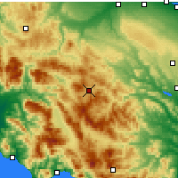 Nearby Forecast Locations - Potenza - Map