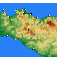 Nearby Forecast Locations - Prizzi - Map