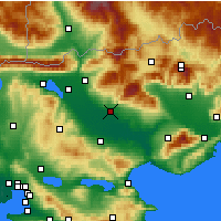 Nearby Forecast Locations - Serres - Map