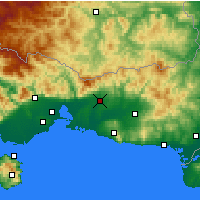 Nearby Forecast Locations - Komotini - Map