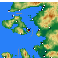 Nearby Forecast Locations - Lesbos - Map