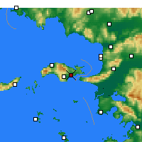 Nearby Forecast Locations - Samos - Map