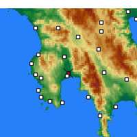 Nearby Forecast Locations - Kalamata - Map