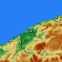 Nearby Forecast Locations - Bartın - Map