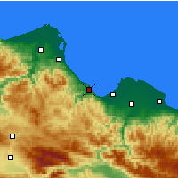 Nearby Forecast Locations - Samsun - Map