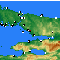 Nearby Forecast Locations - Istanbul / Sabiha Gokcen - Map