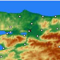 Nearby Forecast Locations - Adapazarı - Map