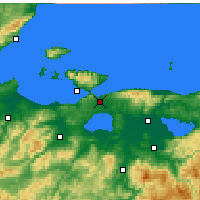 Nearby Forecast Locations - Bandırma - Map