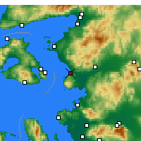 Nearby Forecast Locations - Dikili - Map