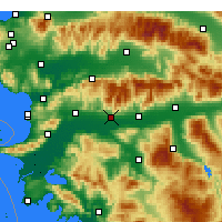 Nearby Forecast Locations - Aydın - Map