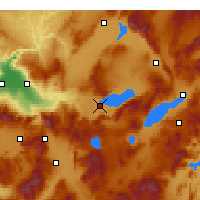 Nearby Forecast Locations - Denizli - Map