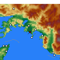 Nearby Forecast Locations - Dalaman - Map