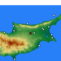 Nearby Forecast Locations - Nicosia - Map