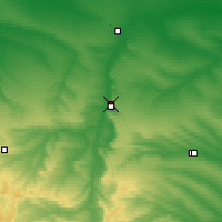 Nearby Forecast Locations - Svetlograd - Map