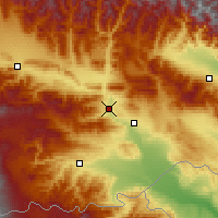 Nearby Forecast Locations - Tbilisi - Map