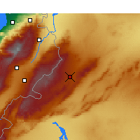 Nearby Forecast Locations - Al-Nabek - Map