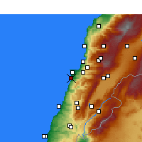 Nearby Forecast Locations - Beirut - Map