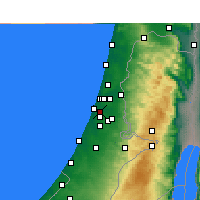 Nearby Forecast Locations - Beit Dagan - Map