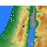 Nearby Forecast Locations - Jerusalem - Map