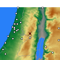 Nearby Forecast Locations - Jerusalem Airport - Map