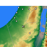 Nearby Forecast Locations - Beersheba - Map