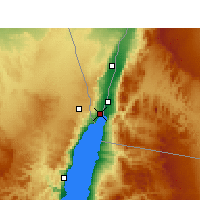 Nearby Forecast Locations - Eilat - Map