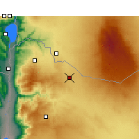 Nearby Forecast Locations - Mafraq - Map