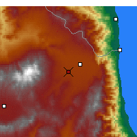 Nearby Forecast Locations - Ardabil - Map