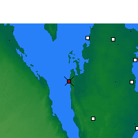 Nearby Forecast Locations - Dukhan - Map