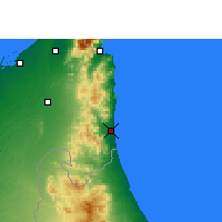 Nearby Forecast Locations - Fujairah - Map