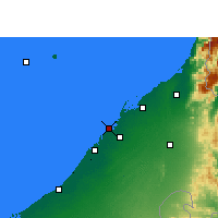 Nearby Forecast Locations - Ajman - Map