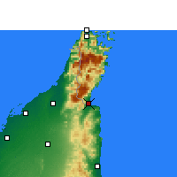 Nearby Forecast Locations - Dibba - Map