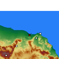 Nearby Forecast Locations - Muscat - Map