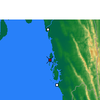 Nearby Forecast Locations - Kutubdia - Map