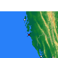 Nearby Forecast Locations - Cox's Bazar - Map