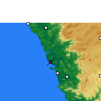 Nearby Forecast Locations - Panaji - Map